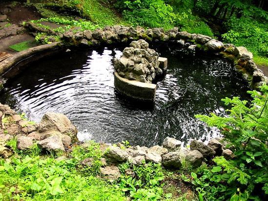 オンネトー湯の滝露天風呂